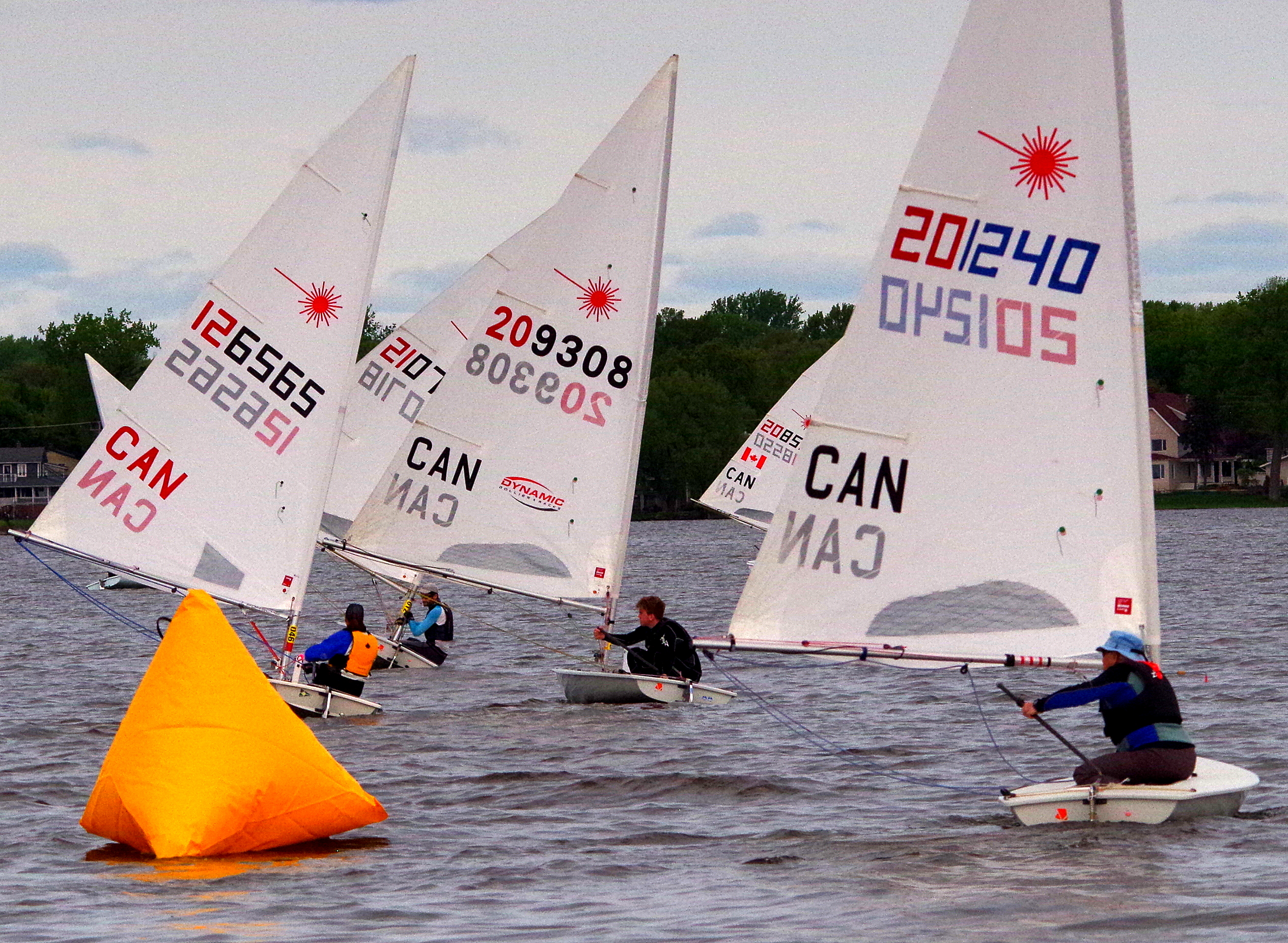 Laser Canadian Championships/Ian Bruce Memorial, Coralie Vittecoq finished 2nd in Radial